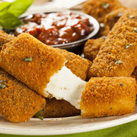 Deep fried cheese sticks. Crispy on the outside, gooey on the inside