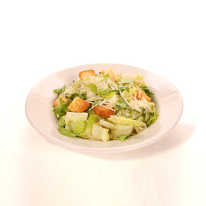 Romaine lettuce, romano cheese, Caesar dressing, croutons & tomatoes