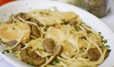 Breaded chicken sauteed with mushrooms in a marsala wine sauce