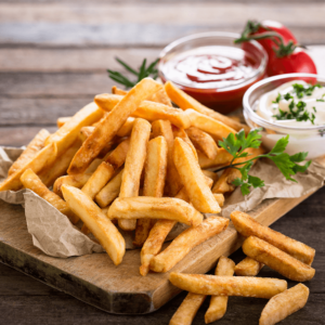Our delicious French fries are deep-fried 'till golden brown, with a crunchy exterior and a light fluffy interior. Seasoned to perfection!