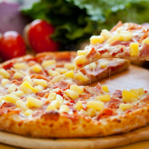 Canadian bacon, pineapple & bacon